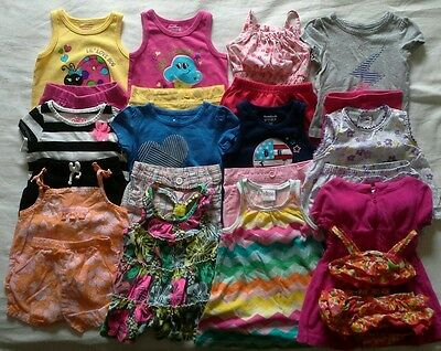 Girls 12 months Spring Summer Clothes Outfits Clothing Lot!