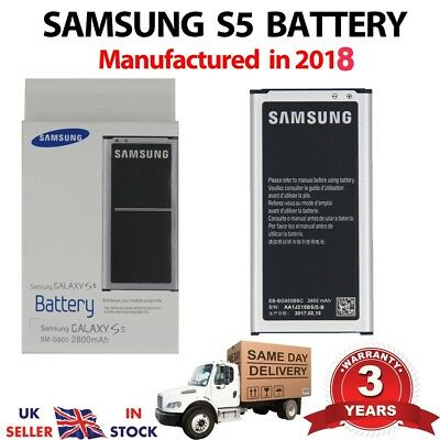 Genuine Battery For Samsung Galaxy S5  GT-i9600 2800 mAh EB-BG900BBC Original