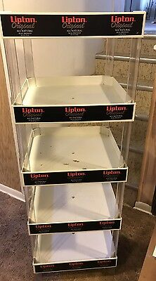 Vintage Lipton Plastic Display Shelving 5 Shelf Stand