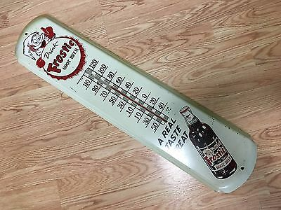 """Vintage Frostie Root Beer """"A Real Taste Treat"""" Thermometer - Working"""