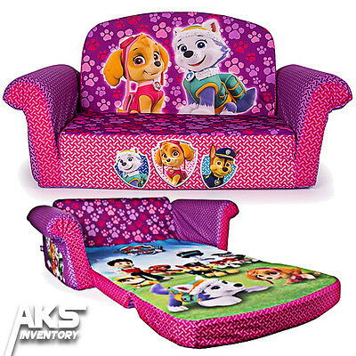 Paw Patrol Flip Open Sofa Convertable Couch Lounger Children Kids Girls Pink New