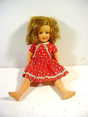 Vintage (1950`s) Ideal St-42 Shirley Temple Doll W/ Teeth + Moving Eyes