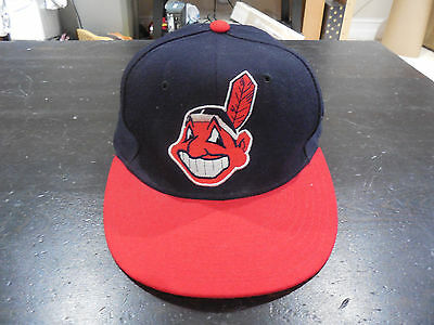 62170e05948 ... new zealand vintage new era cleveland indians chief wahoo fitted hat cap  size 6 7 8