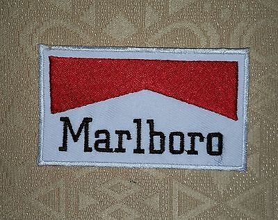 Vintage Marlboro Cigarette Embroidered Patch Toppa Ricamata