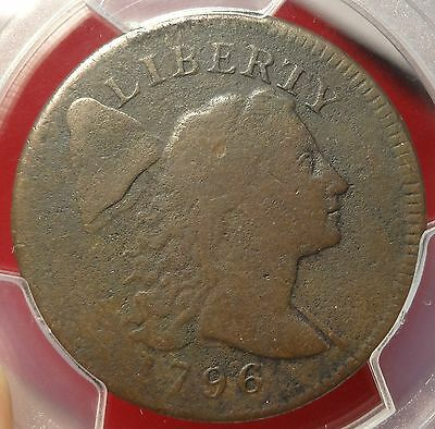 PCGS VG08 1796 Liberty Cap Large Cent Tough Early Copper 1C