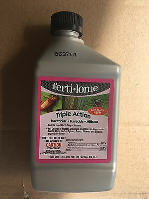 (6) 16 oz. Fertilome Triple Action, 16 oz.Neem oil Insecticide Fungicide