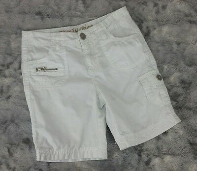 Justice Girls Size 8 R White Bermuda Cargo Shorts