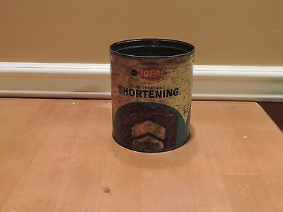Vintage Acme/ideal Pure Vegetable Shortening Metal Can