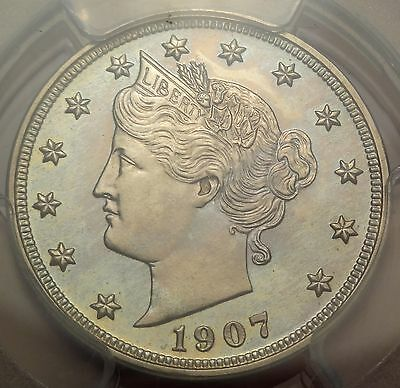 PCGS PR64 1907 Liberty V Nickel Proof 5c