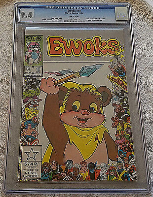 Ewoks #10 CGC 9.4 NM, Marvel Star Comics 1986, 25th Anniversary Cover, Star Wars