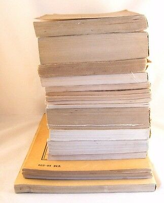 U S MILITARY Manuals Lot of 17 ...  Vintage Used Books 1940-1958 ... 70 Year old