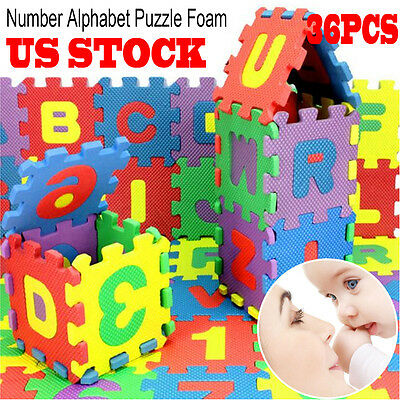 36Pcs Baby Child Number Alphabet Puzzle Foam Maths Educational Learning Toy