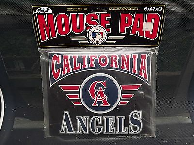 New California Angels Mouse Pad Mats Mousepad 1995 New in package