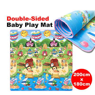AU Large Double Sided Waterproof Baby Play Mat Portable Outside Picnic Carpet