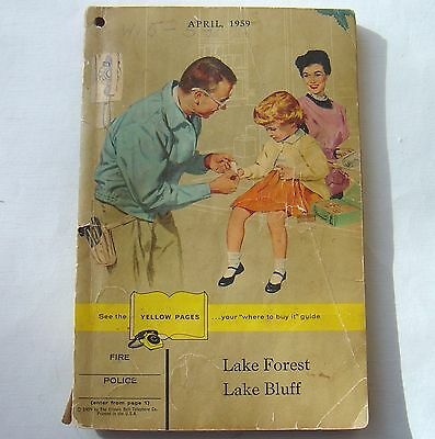 Vintage 1959 Lake Forest / Bluff Phone Telephone Book Directory Deerfield