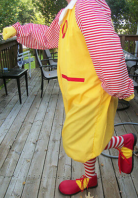 Complete Deluxe Adult Ronald McDonald Costume Shoes-Wig-Socks One Size NEW