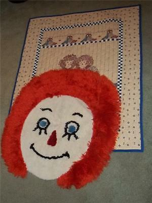 Raggedy Ann and Andy Quilt and Rug LOT