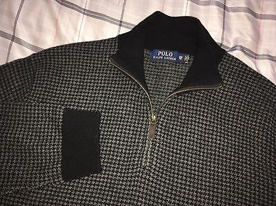 Men's Polo Ralph Lauren Houndstooth 1/2 Zip Pullover Sweater Size 3XB Big