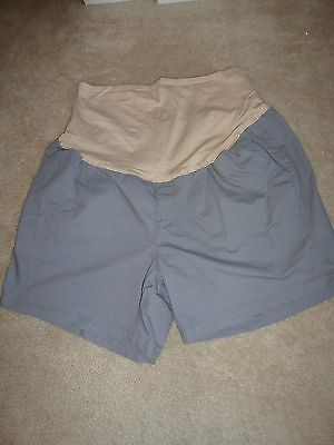 OLD NAVY Gray Maternity 18 Shorts Full Panel NEW