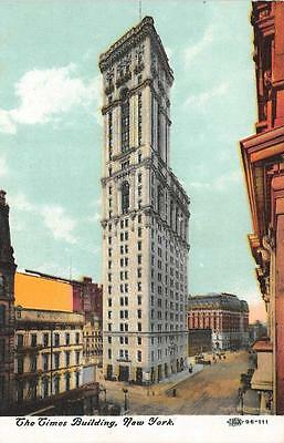 NY, New York        THE TIMES BUILDING & Street Scene     c1910's Postcard