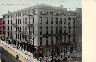 ROCHESTER, NY  New York      HOTEL EGGLESTON & Street View    1916 Postcard