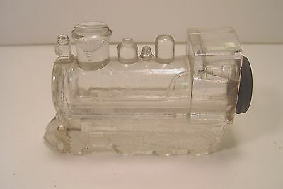 Large Locomotive Candy Container With Metal Screw Cap.