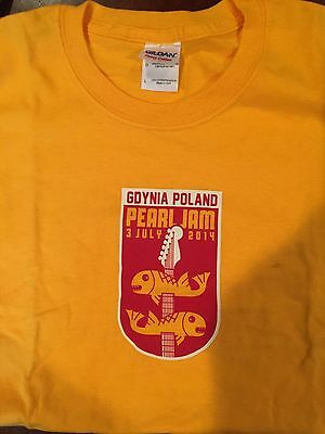 Pearl jam Brand new Gdynia Poland 2014 Tour concert t-shirt Large L
