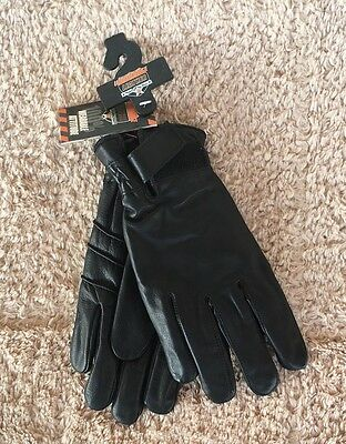 NWT! Interstate Leather Thinsulate Men's Large Black Cowhide Leather Gloves