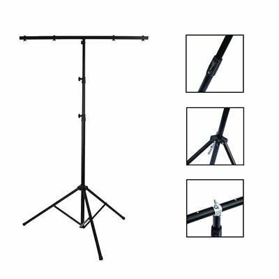 3M Adjustable Heavy Duty T Bar Lighting Tripod Stand Light Weight DJ Disco T-Bar