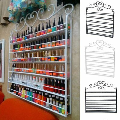 5/6 Tier Metal Wall Mounted Nail Polish Rack Organizer Display Holder Shelf SA
