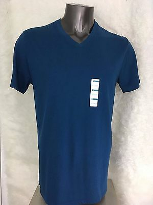 NEW Old Navy Mens Blue V-Neck Cotton T-Shirts Sz L
