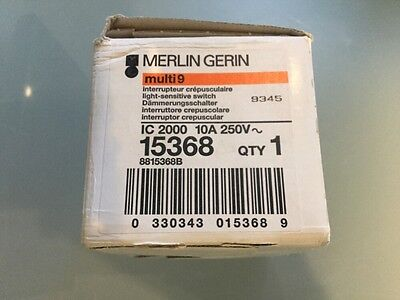 Merlin Gerin Multi9 15368 Ic2000 10A 250V Light Sensitive Switch