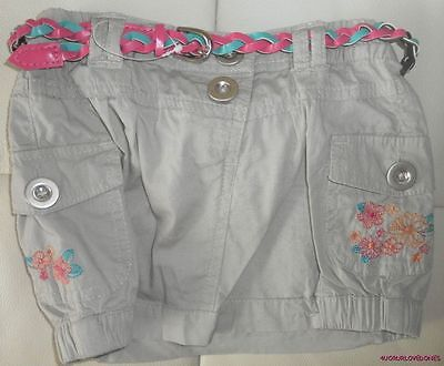 Dymples Girls Cargo Skirt With Belt S : 0 (12 Months) Cotton Nwt