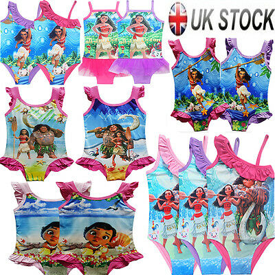 Kids Girls Moana Princess Bikini Swimming Swimwear Costume Swimsuit Bathing Suit