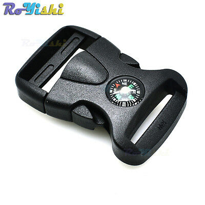 """1""""(25mm) Plastic Side Release Buckle With Compass For Backpack Camping Bag"""