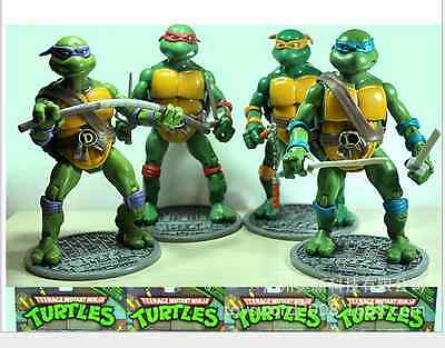 "TMNT Teenage Mutant Ninja Turtles 4 Pcs Set 6"" Classic Collection Action Figure"