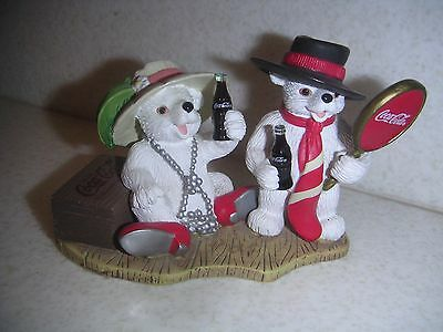 """1999 Coca-Cola Polar Bear Cubs """"You Bring Out The Best In Me"""" Figurine H72055"""