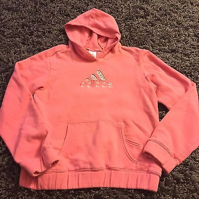 Women's Long Sleeve Hooded Bling Pink Hoodie Gray Addidas EUC Jacket Coat SMALL