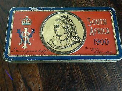 Antique victorian tin queen victoria rare 1900 south africa