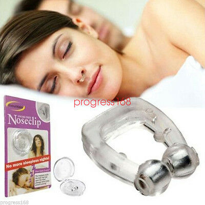 New silicon magnetic snore control stop help sleep snoring nose clip tray