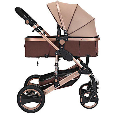Luxury Baby Stroller Newborn Carriage Infant Travel Foldable Pram Pushchair