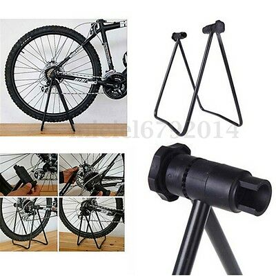 BIKE HUB Folding DISPLAY Repair Stand T Floor Storage Rack Bicycle Portable UK