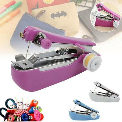 Portable Mini Hand Held Sewing Machine Small Compact Child Easy Stitcher LH
