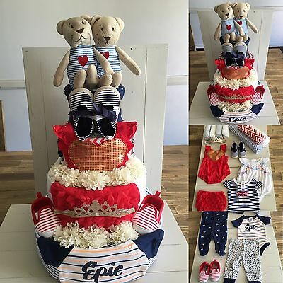 Gorgeous Nappy Cakes - 3 Tier large Nappy Cake