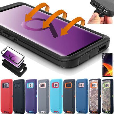 For Samsung Galaxy S10 Note9 S9+ S8 Hybrid Shockproof Heavy Duty Hard Case Cover