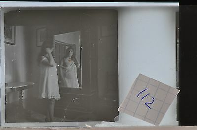 Stereoscopic Photography  Nude  , Glass Stereo Slide , 1905 Aprox.   N. 112