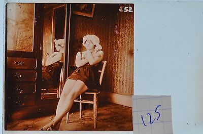 Stereoscopic Photography  Nude  , Glass Stereo Slide , 1905 Aprox.   N. 125