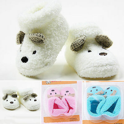 Newborn Unisex Baby Boy Girls Infant Cute Animal Sheep Soft Warm Shoe Boot Socks