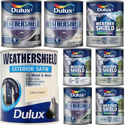 Dulux Weathershield Satin Quick Dry 750ml Exterior Wood & Metal Paint All Colour