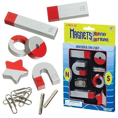 1 or 2 SETS - 8 Pieces Classic Horseshoe Magnet Set - Fun Learning Science Toy